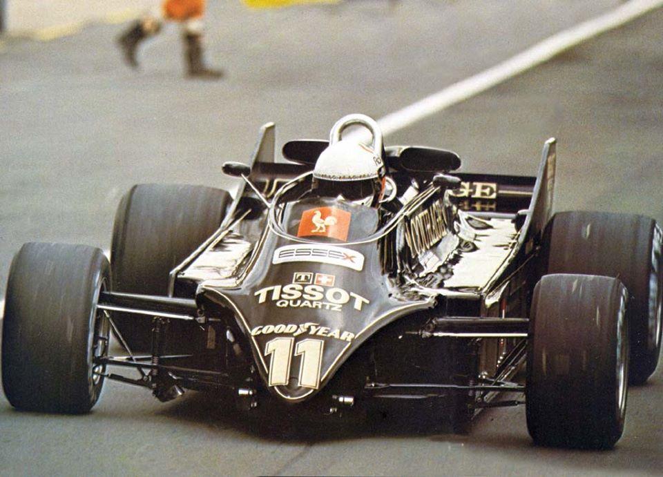Lotus 88B (1981). Même si Lotus est une écurie FOCA, l'organisation ne veut pas voir cette voiture en piste !